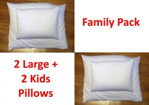 Organic Buckwheat Pillow Family Pack