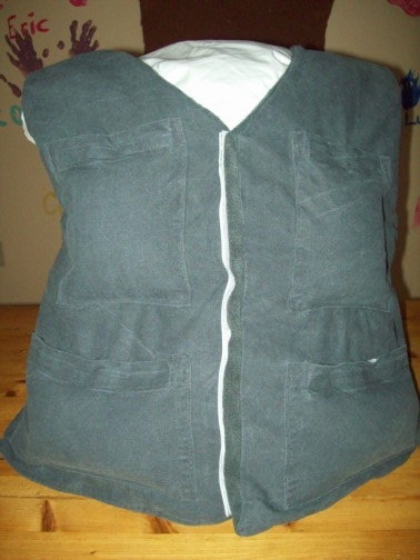 Organic Buckwheat Weighted Vest