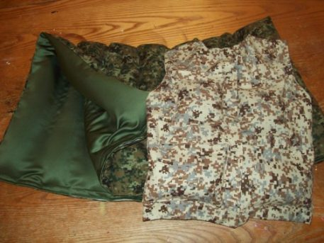 Organic buckwheat cameo print weighted vest and organic buckwheat weighted blanket.